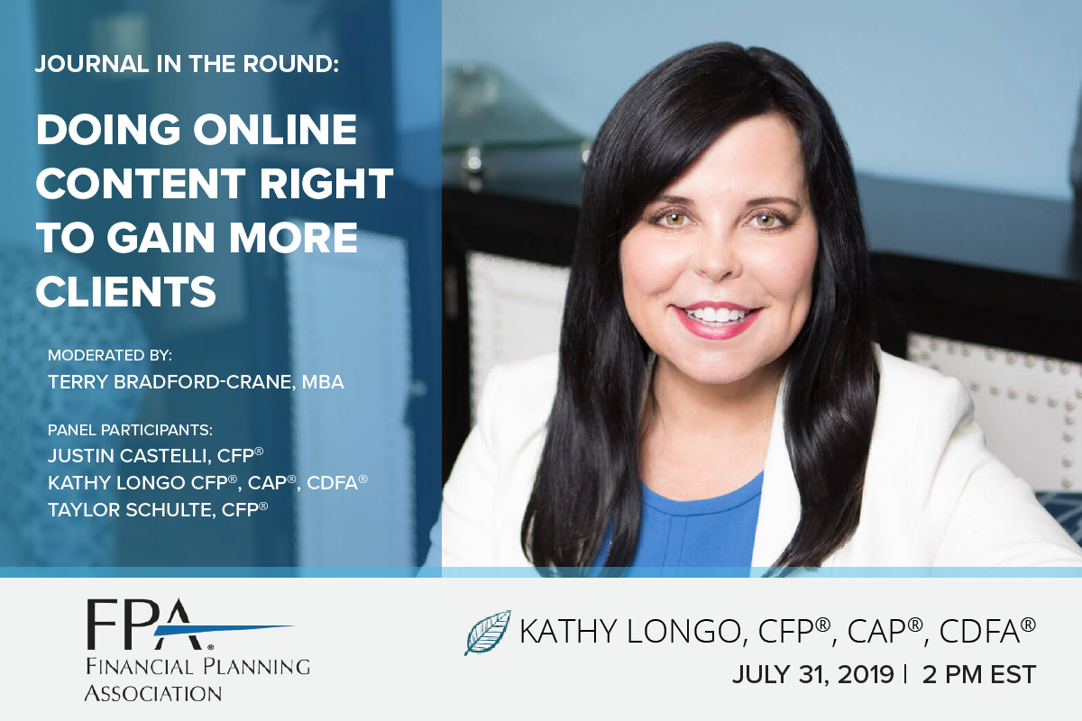 Join Kathy Longo for the FPA Journal in the Round Series